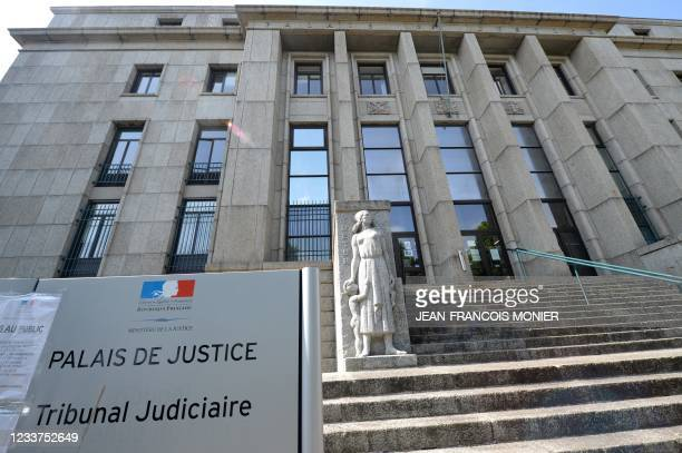 Picture taken on July 1 shows a view of the Brest courthouse, western France. - The Tour de France has withdrawn its legal complaint against the...