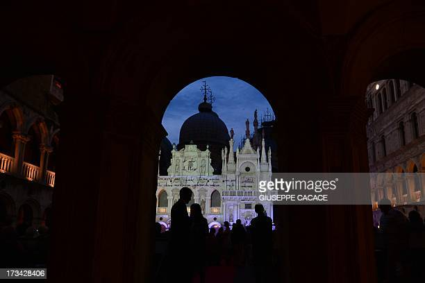 A picture taken on July 10 2013 show the Palazzo Ducale and the Cupolas of Saint Mark's Basilica in Venice AFP PHOTO / GIUSEPPE CACACE