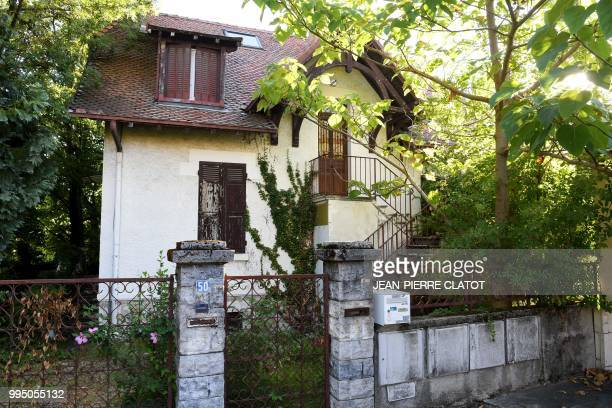 A picture taken on July 10 2018 in Chambery shows the house of Maurice Agnelet which will be auctioned at the Courthouse Maurice Agnelet was...