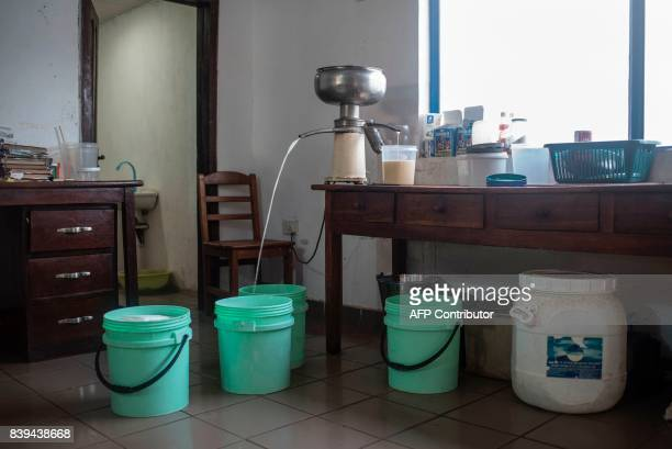 A picture taken on July 12 2017 shows cream separator is seen in the office of the Rosedale Dairy Farm Farming in Nigeria is not for the fainthearted...