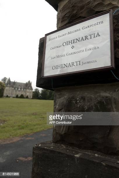 A picture taken on July 13 2017 shows the Etcharry castle near SaintPalais in the Pyrenees Atlantique The Association for Rural Training put the...