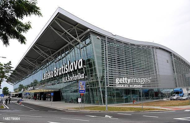 Picture taken on July 132012 shows the passenger terminal building of Bratislava's airport Milan Rastislav Stefanik after extensive reconstruction...