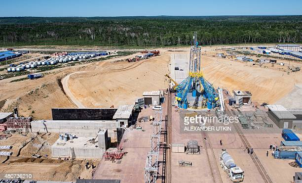 A picture taken on July 14 2015 shows an aerial view of the construction site of the Vostochny cosmodrome in Russia's Far Eastern Amur region AFP...