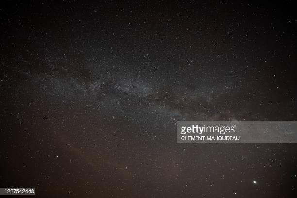 Picture taken on July 15, 2020 shows the Milky Way in Saint-Michel-L'Observatoire, southern France.