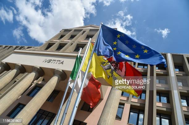 A picture taken on July 18 2019 shows the courthouse of Agrigento