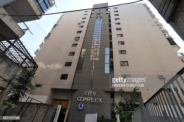A picture taken on July 20 shows the building housing the apartment of Monzer Khaldoun alHassan a dual LebaneseSwedish national in the northern...