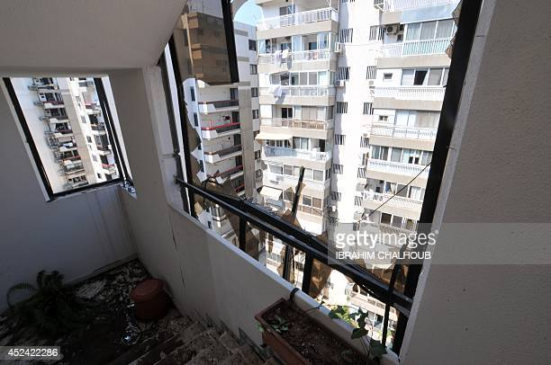 A picture taken on July 20 shows the destruction at the apartment of Monzer Khaldoun alHassan a dual LebaneseSwedish national in the northern...