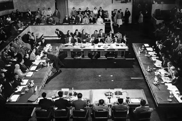 Picture Taken On July 22 1954 In Geneva Shows The Signing Of The