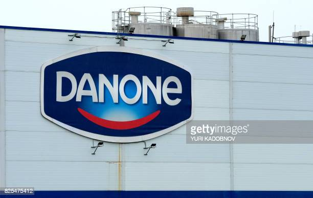 A picture taken on July 22 2017 shows French Dairy firm Danone's Russian plant near Chekhov outside Moscow / AFP PHOTO / Yuri KADOBNOV