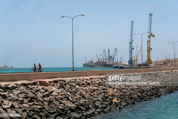 A picture taken on July 22 2018 shows a general view of Old Massawa harbour 60km of the Eritrean capital Asmara Eritrea's dormant port hopes for...