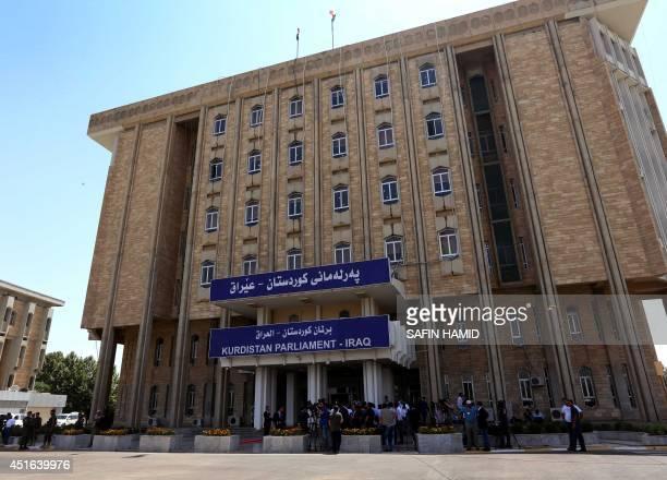 A picture taken on July 3 2014 shows the building of Iraq's autonomous Kurdistan region's parliament in Arbil Kurdistan's capital in northern Iraq...