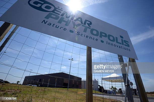 Picture taken on July 5 2013 in SaintMalo shows the entrance of the plant of Goemar a society specialised in sustainable technologies for agriculture...
