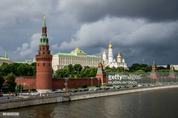 Picture taken on July 9, 2018 shows the Kremlin in Moscow.