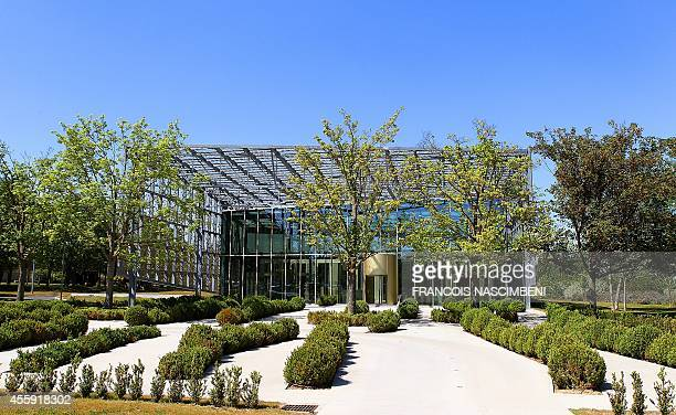 Picture taken on June 1, 2011 shows the headquarters of the Piper-Heidsieck company, near the French northeastern city of Reims. French wine and...