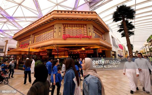 A picture taken on June 10 shows a Californiabased Cheesecake Factory shop at the Avenue Mall in Kuwait City / AFP PHOTO / Yasser AlZayyat