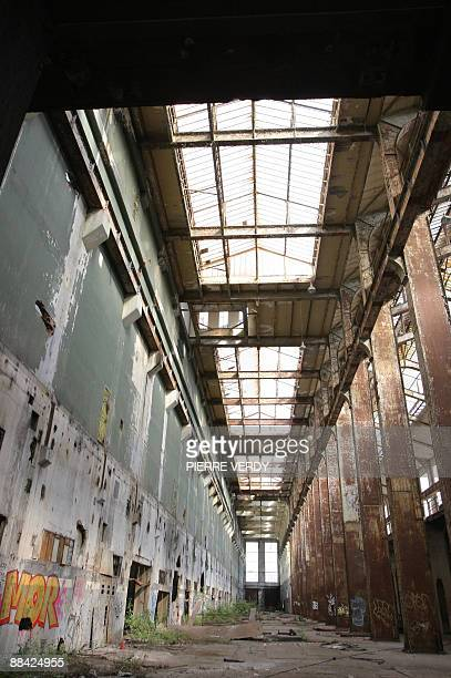 A picture taken on June 11 2009 in SaintDenis outside Paris shows the former power station that will house his Cite du Cinema projected by French...