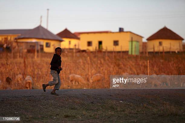 GERARDY A picture taken on June 12 2013 in Qunu a village in the Eastern Cape where former South African president Nelson Mandela grew up of a young...