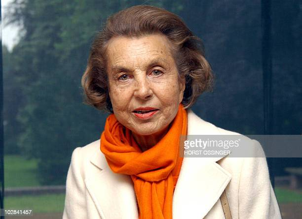 Picture taken on June 13 2004 shows L'Oreal patriarch and France's richest woman Liliane Bettencourt attending an exhibition in Krefeld Germany...