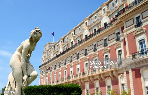 A picture taken on June 15 shows the luxury hotel 'Hotel du Palais' in Biarritz Southwestern France This hotel became on May 5 2011 one of the eight...