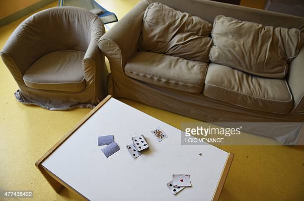 A picture taken on June 16 2015 in SaintBricesousForet shows the living room of a CEF Created in 2002 those centers are alternatives to jail for...