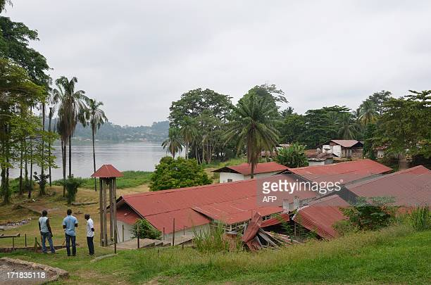 LEBUR A picture taken on June 17 2013 in Lambarene on the bank of the river Ogooue shows the hospital where German and later French doctor Albert...