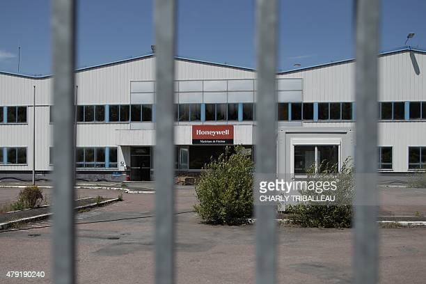 COUPEAU A picture taken on June 17 2015 in CondésurNoireau northwestern France shows the plant of USbased automotive supplier Honeywell International...