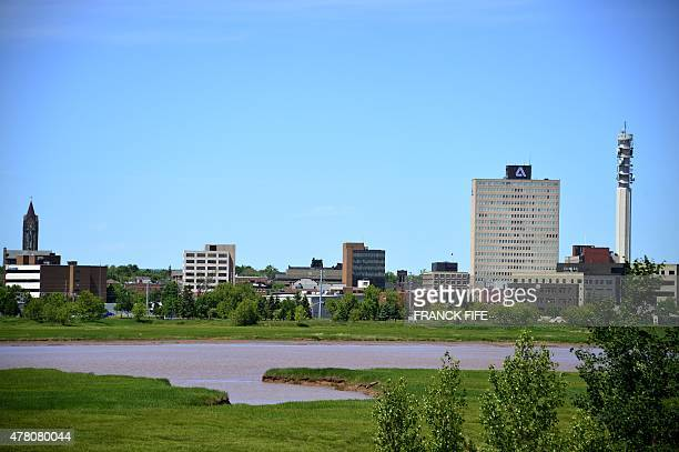 A picture taken on June 17 2015 shows a view of city of Moncton New Brunswick AFP PHOTO / FRANCK FIFE