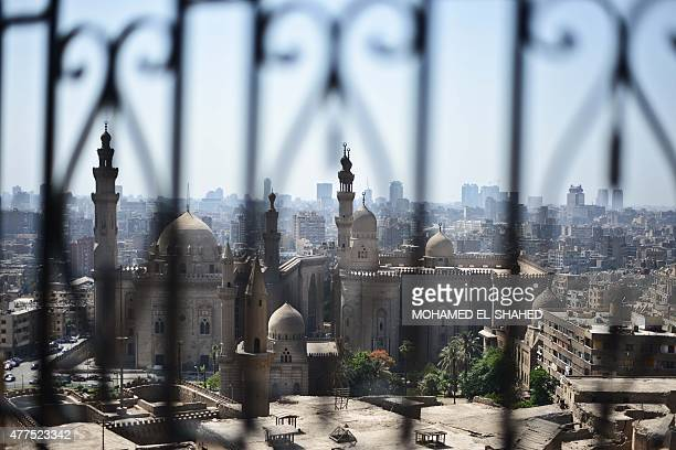 A picture taken on June 17 from the Salaheddine Citadel in Cairo shows the Rifai Mosque and the Mosque of Sultan Hassan AFP PHOTO / MOHAMED ELSHAHED