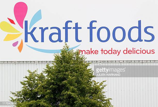 A picture taken on June 20 2011 shows the Kraft Foods logo at the Kraft Foods headquarters ahead of a special company meeting of Kraft Foods in Halle...