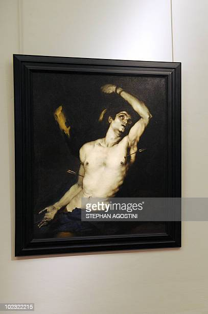 Picture taken on June 22, 2010 shows a Luca Giordano painting representing Saint-Sebastian at Ajaccio Fesch Palace on the French Mediterranean island...