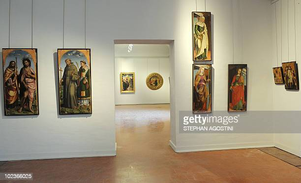 Picture taken on June 22, 2010 shows one of the Italian primitive painters room at Ajaccio Fesch Palace on the French Mediterranean island of...