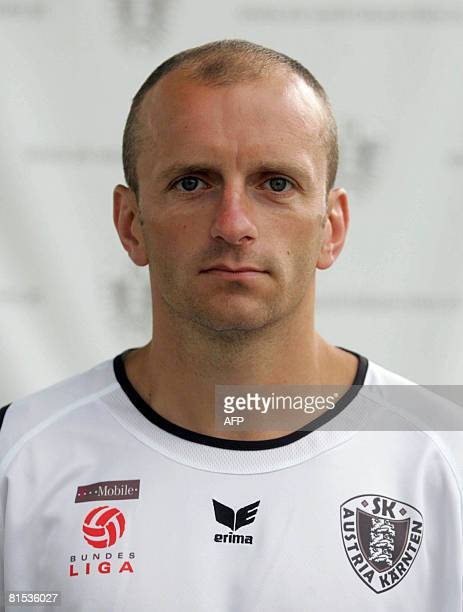 A picture taken on June 25 2007 shows Polish football player Adam Ledwon posing for an official picture in Klagenfurt Polish international footballer...