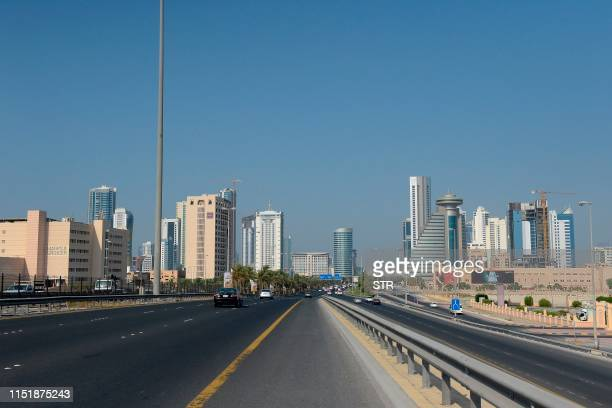 Picture taken on June 25 shows the Bahraini capital Manama skyline. - Co-host the United States is holding out the prospect of $50 billion of...