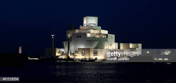 A picture taken on June 25 shows the Museum of Islamic Art in the Qatari capital Doha Qatar facing growing corruption allegations over the 2022 World...