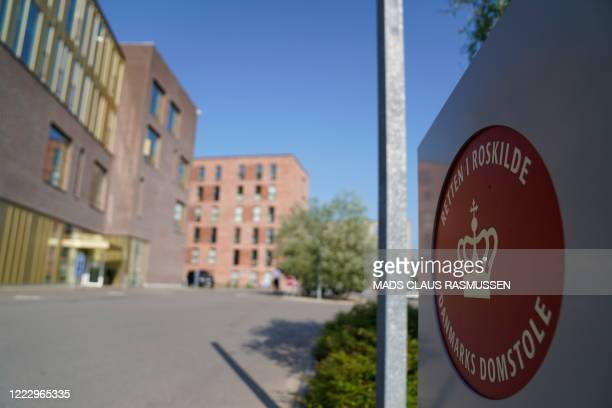 Picture taken on June 26, 2020 shows the court in Roskilde, Denmark, that is expected to deliver a verdict on whether a Norwegian-Iranian man is...