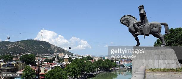 A picture taken on June 26 shows a view of central Tbilisi Georgia plans to sign an association agreement with the European Union on June 27 AFP...