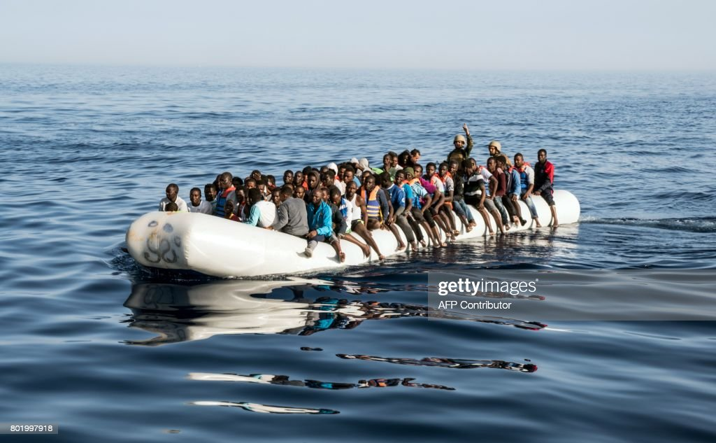 LIBYA-EUROPE-CONFLICT-MIGRANTS : News Photo