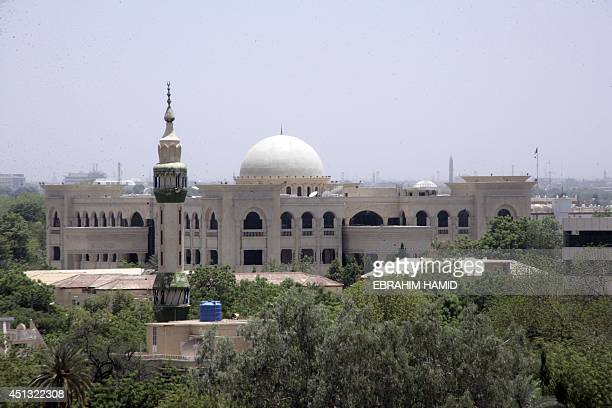 A picture taken on June 27 shows the Presidential Palace under construction in the Sudanese capital Khartoum as the country marks twentyfive years...