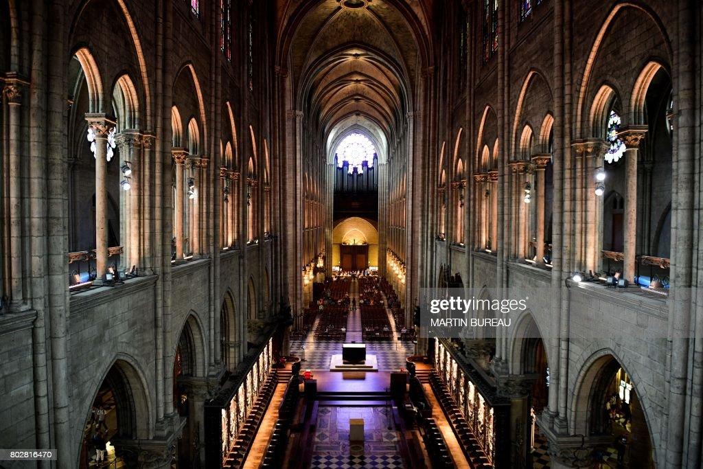 FRANCE-RELIGION-TOURISM-CATHEDRAL-PARIS : News Photo