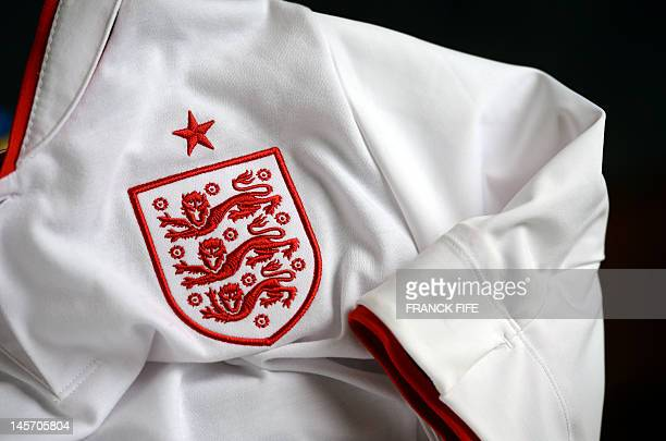 A picture taken on June 3 2012 in Paris shows the jersey of the English football federation AFP PHOTO / FRANCK FIFE