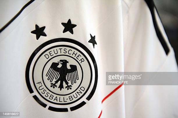 A picture taken on June 3 2012 in Paris shows the jersey of the German Football Federation AFP PHOTO / FRANCK FIFE
