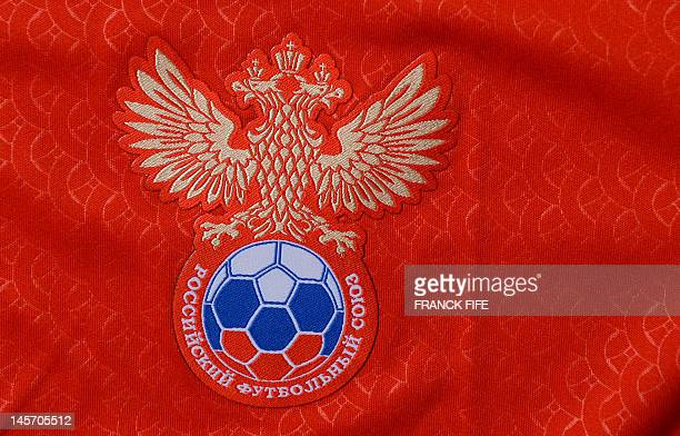 A picture taken on June 3 2012 in Paris shows the logo of the Russian football federation AFP PHOTO / FRANCK FIFE