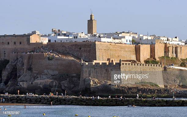 A picture taken on June 30 2012 shows the Kasbah of Oudayas in Rabat one of the five new sites classed by UN cultural body UNESCO as world heritage...