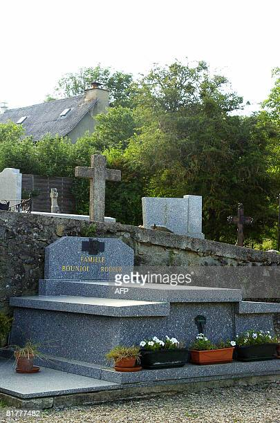 Picture taken on June 30 in Saint-Germain-du-Teil, central southern France, of the family grave of late Sophie Toscan du Plantier, murdered in...