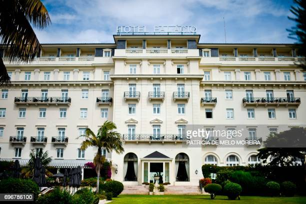 A picture taken on June 8 shows the facade of the Palacio Hotel in Estoril outskirts of Lisbon For 17 years as Fernando Santos ended his football...