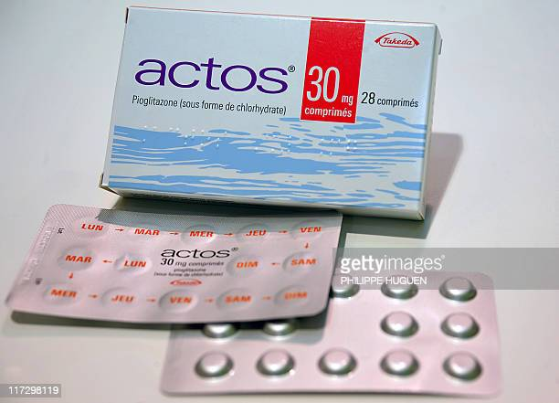 USE A picture taken on June 9 2011 in a pharmacy of the northern city of Lille shows blister packs of Actos antidiabetic drugs Actos/Competact...