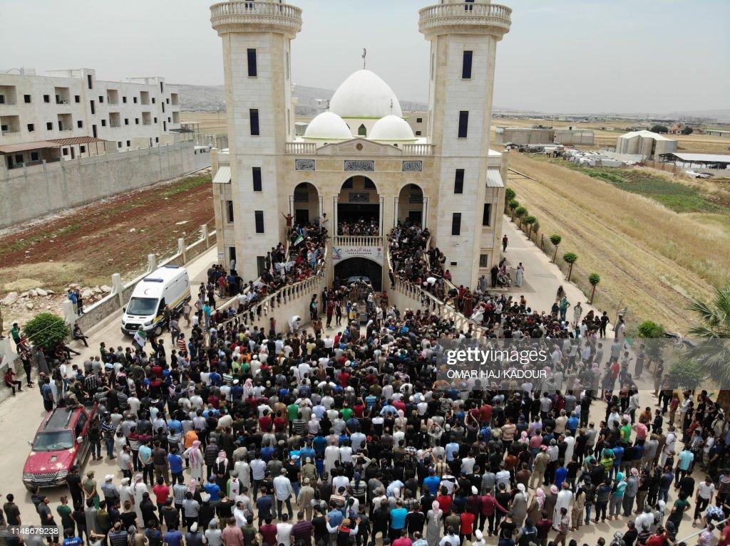 SYRIA-CONFLICT-FUNERAL-SAROUT : Photo d'actualité