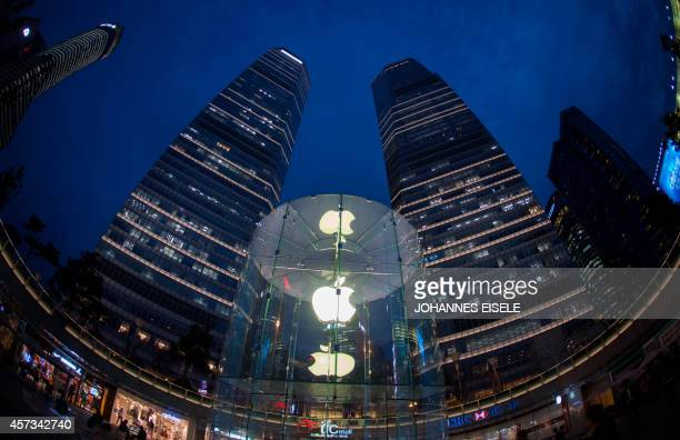 Picture taken on late October 16 2014 shows an Apple store in Shanghai Apple began selling its latest iPhone in China nearly a month after other...