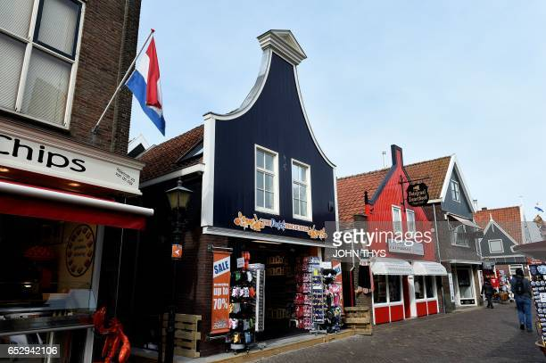 A picture taken on March 13 2017 shows the town of Volendam in The Netherlands / AFP PHOTO / JOHN THYS