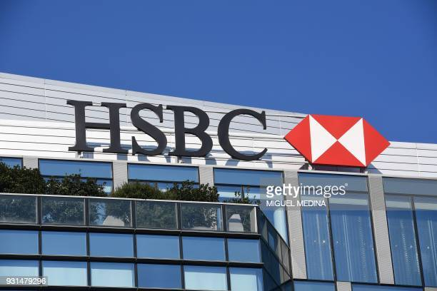 A picture taken on March 13 2018 shows the HSBC headquarters in the Porta Nuova district northern Milan MEDINA